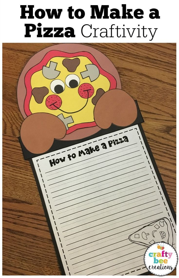 Kids Love Pizza And They Will Writing About How To Make A With This