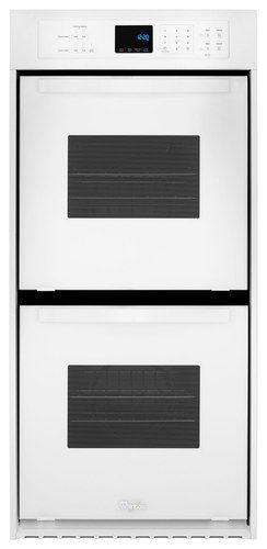 """Whirlpool - 24"""" Built-In Double Electric Wall Oven - White"""
