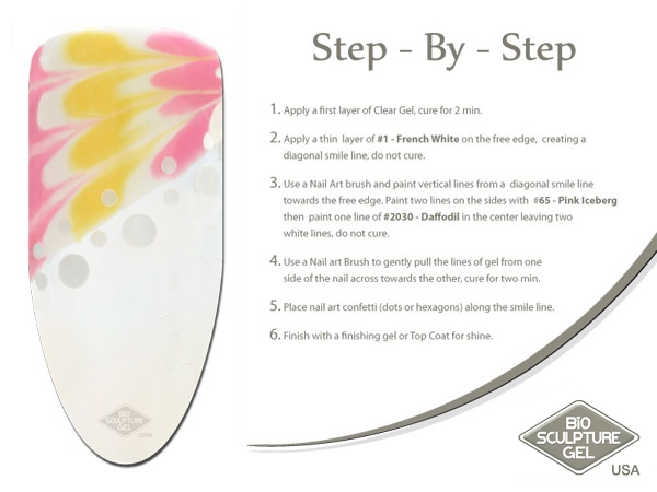 Yellow step-by-step