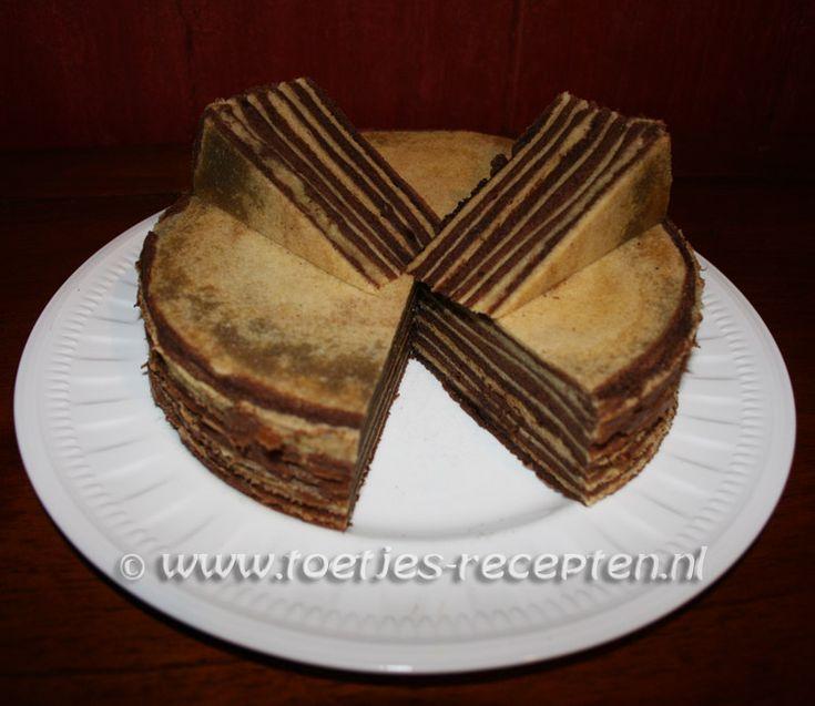 Indonesische+chocoladespekkoek