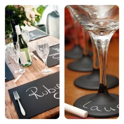 Personalize Your Next Party With Chalkboard Paint | Revelry House http://revelryhouse.tumblr.com/post/33654119183/personalize-your-next-party-with-chalkboard-paint