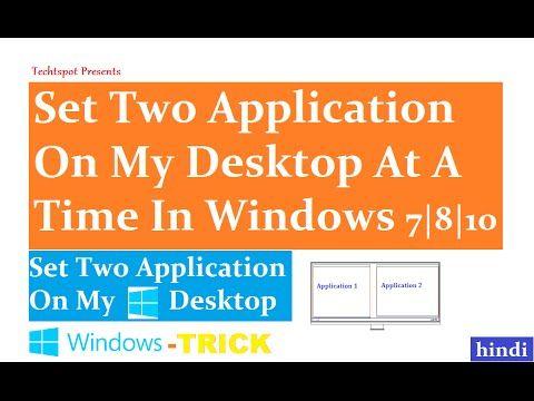 Using Split Screens In Windows 8.1 - Hindi Urdu