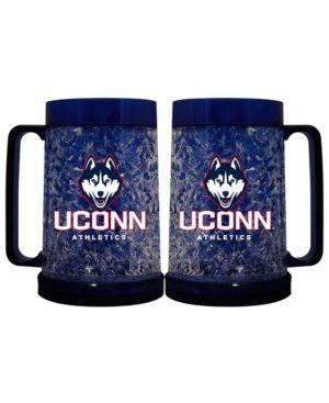 Memory Company Connecticut Huskies 16oz Freezer Mug Color Insert - Blue