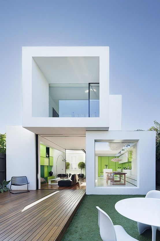 Also love its interior layout. House Designed By Matt Gibson  contemporary cubist architecture