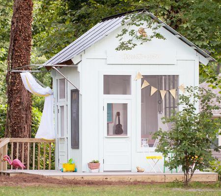 The old shed had fallen into a sad state and was in bad need of TLC,  but the idea to turn it into  playhouse came to mind. The roof was  ...
