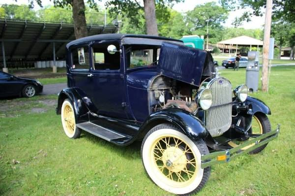 Model A cars from the 1930's are featured and on display at the Public Enemy 5K Run & Walk at the Lake County Fairgrounds in Crown Point, IN.