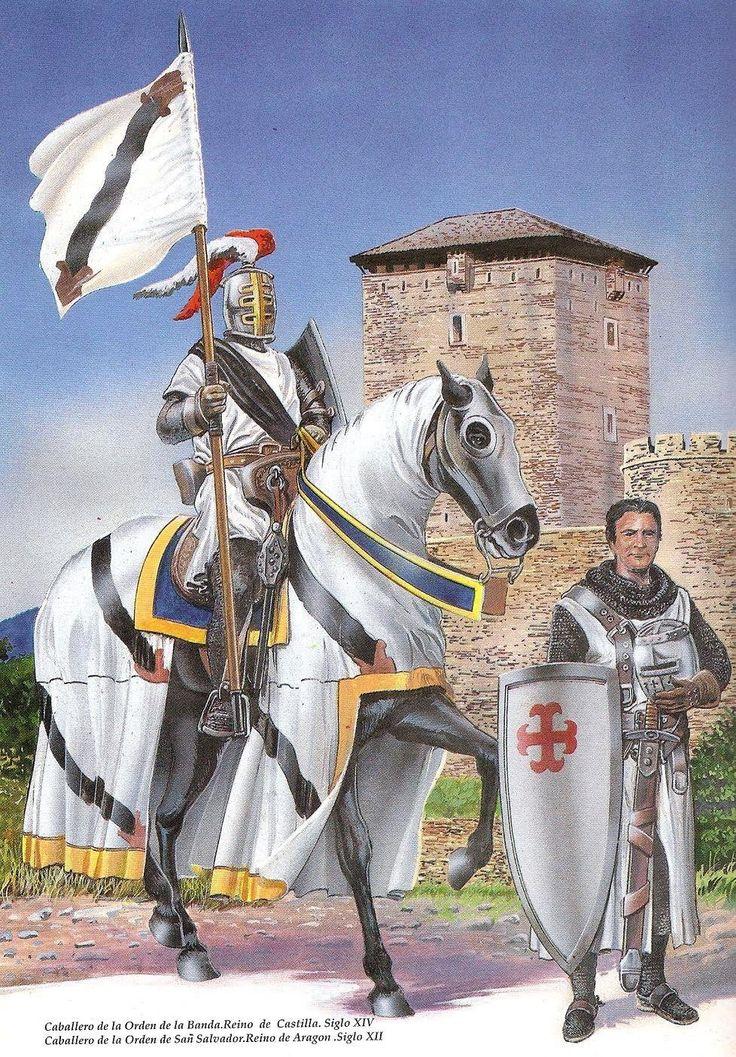 Caballero castellano de la Orden de la Banda y caballero aragonés de la Orden de San Salvador, por Pablo Outeiral.
