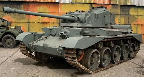 The Comet was the best British tank of WW2. Its 77mm gun fired the same ammunition as the 17 pounder gun from a shell case based on the British WW1 anti aircraft gun. The reduction in velocity did not have a too negative affect on the APDS shot and the Comet could still take on a Tiger or Panther at range.