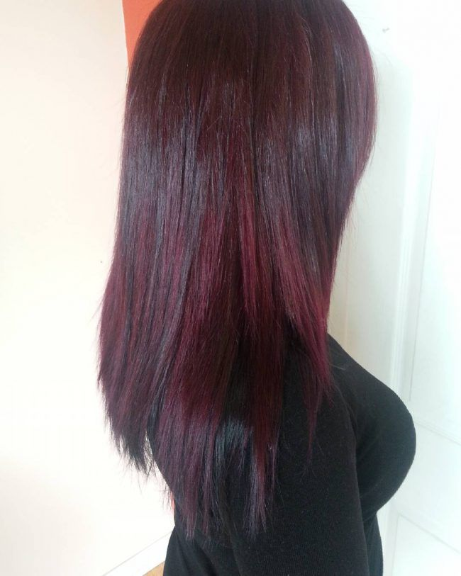 25 best ideas about black cherry hair color on pinterest