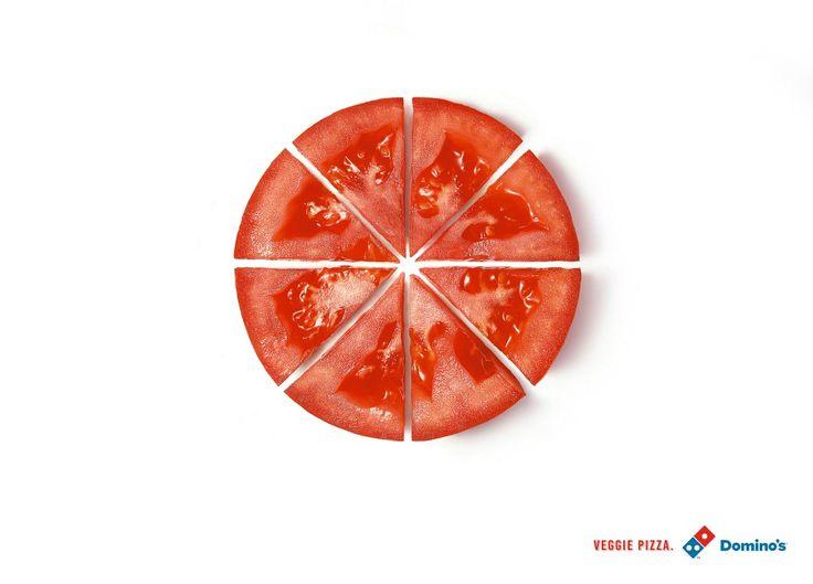 ドミノ・ピザの超絶シンプルなベジピザ広告 | AdGang
