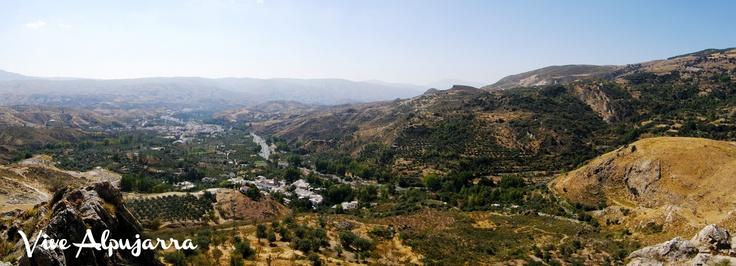 Panorámica del lugar donde fue coronado Aben Humeya, entre Cádiar y Narila. Vive Alpujarra