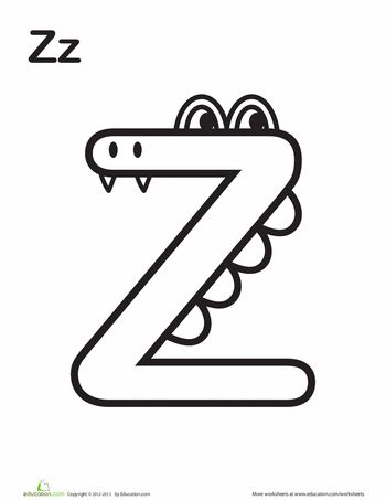 Get up close and personal with this silly monster alphabet as they help your little learner master the ABC's. She'll love learning her uppercase letters by coloring these crazy critters.
