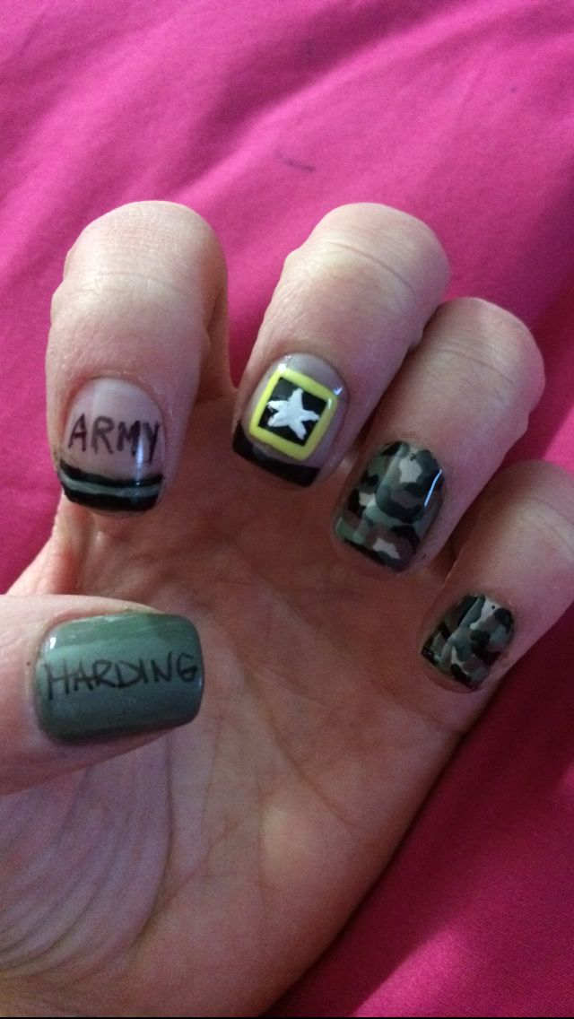 Army nails! All ready for my brother's graduation! #armystrong