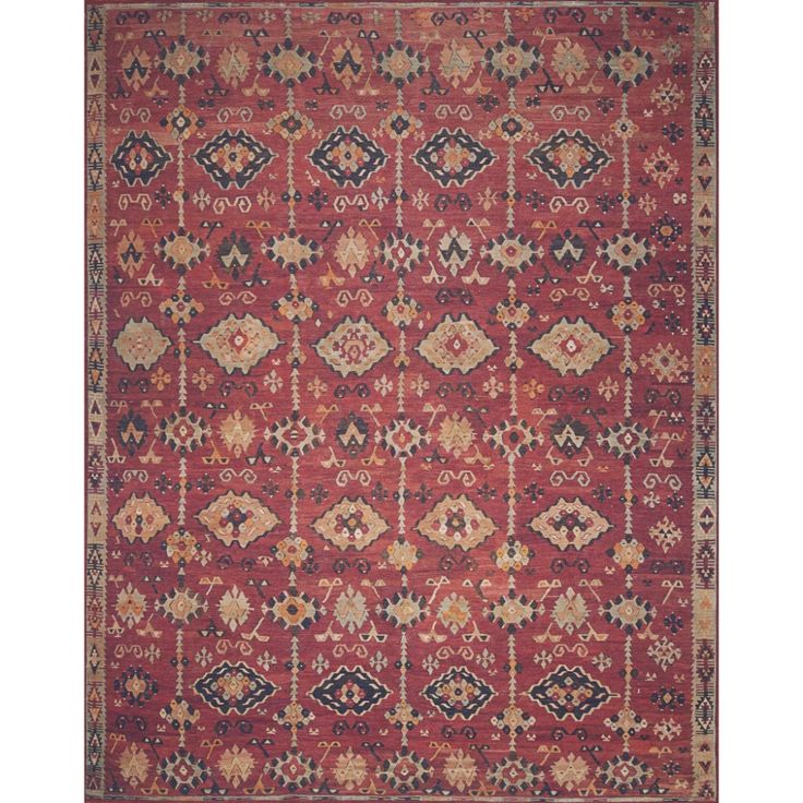Lucca Brick Multi Rug Magnolia home rugs, Magnolia homes