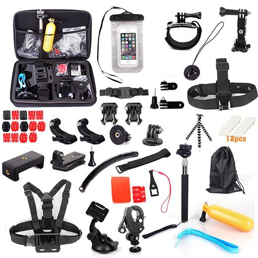 2. Gopro camera accessory kit, Evoplus® ULTRA 58-in-1