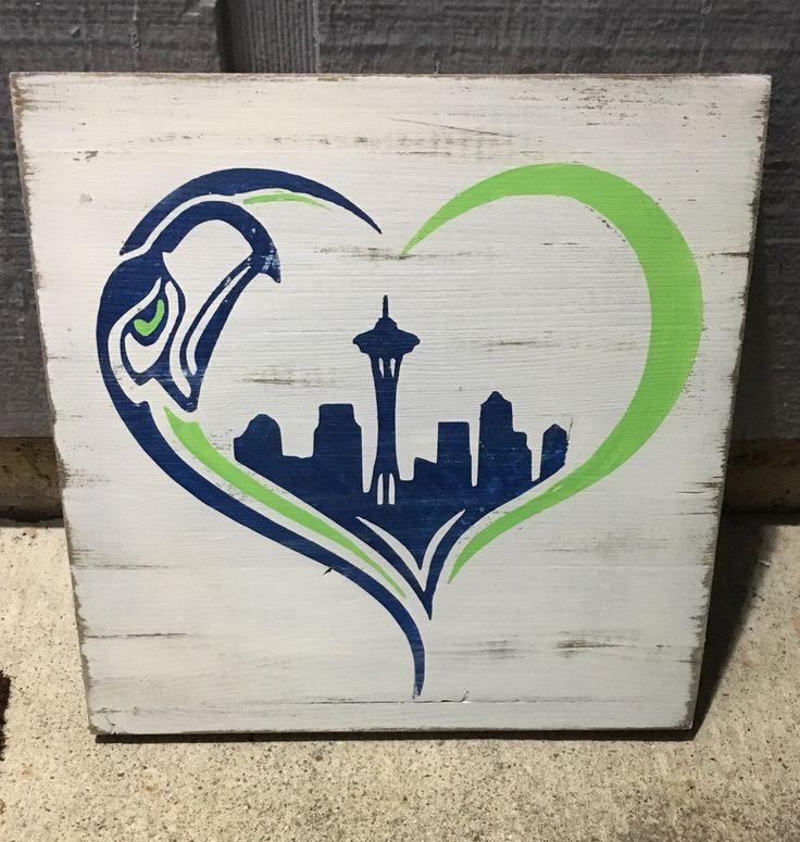 Seattle Seahawks, Seahawks heart, seattle skyline, football, 12 man love, seahawks, rustic wood sign by DivaReclaimed on Etsy https://www.etsy.com/listing/489844515/seattle-seahawks-seahawks-heart-seattle