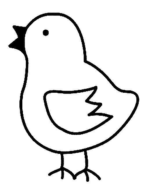 animale pui de colorat p23