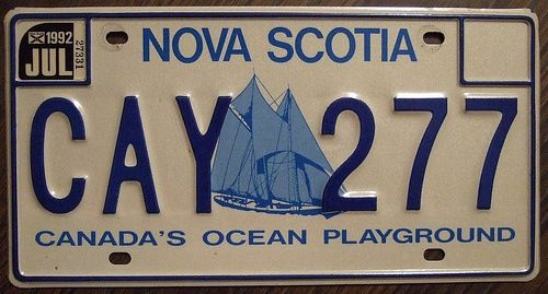 Canada's licence plates