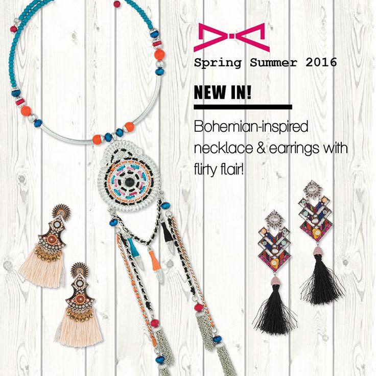 Bohemian-inspired necklace & earrings!