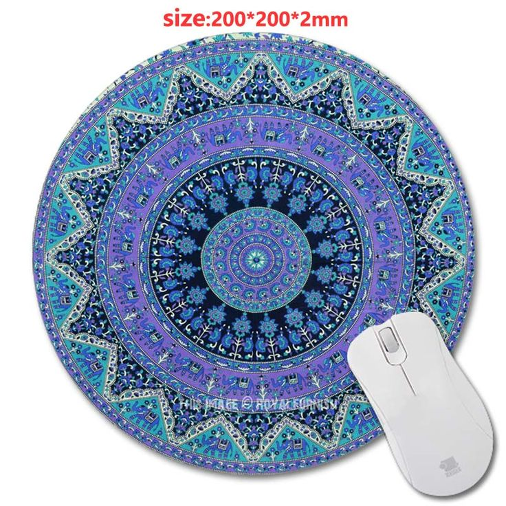 Wholesale Carpet style Customized Rectangle Non-Slip Rubber 3D Printing Gaming Rubber Durable Notebook Round mouse pad