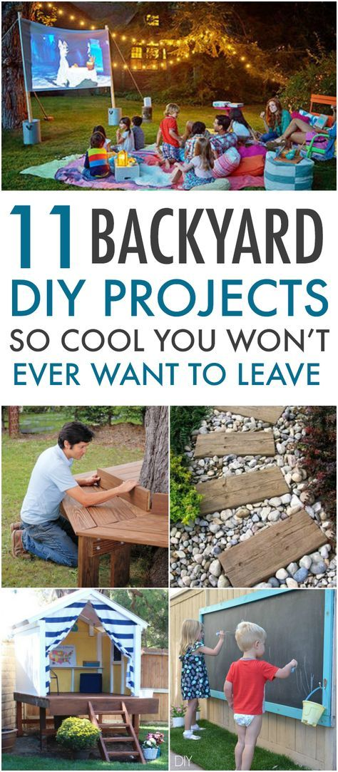 11 Yard DIY Projects So Cool You Won't Want To Leave. So much fun for summer!