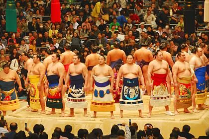 The last time I watched a sumo match, we sat ringside on tatami mats with beautifully packaged Japanese lunchboxes and lots of sake. Living a Travelife. www.travelifemagazine.com