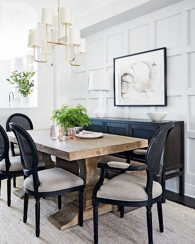 A Chic And Beautiful Toronto Home Dining Room Table Decor