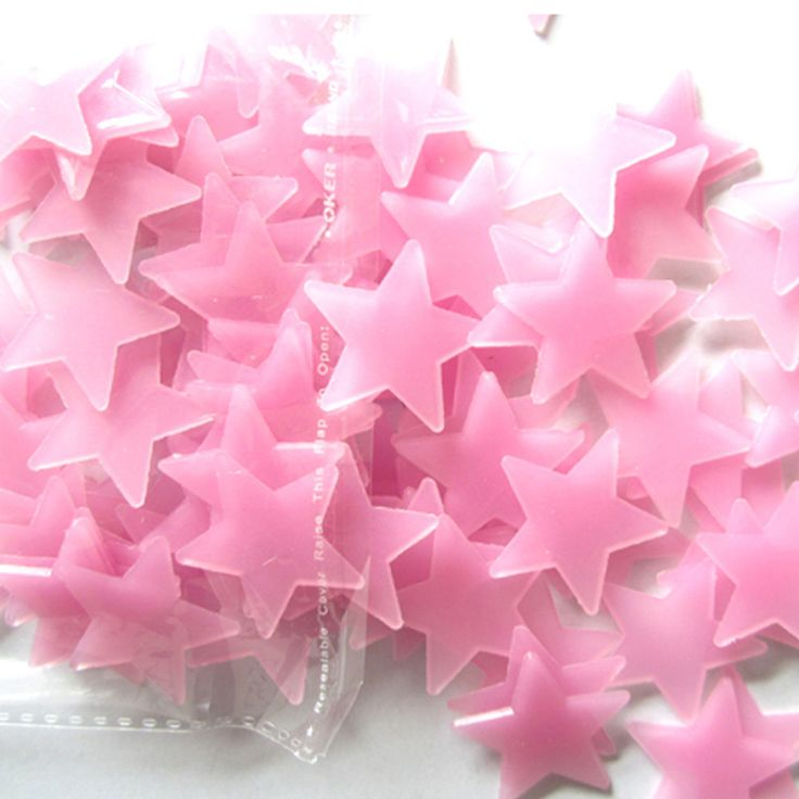 Top grand 100 pcs 3d estrellas brillan en la oscuridad luminosos fluorescentes de plástico pegatinas de pared home decor calcomanías para el regalo