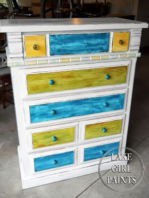 Beach style dresser by Lake Girl Paints