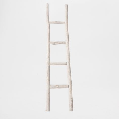 Wooden Ladder Towel Rack - Occasional Furniture - Decor and pillows | Zara Home United States