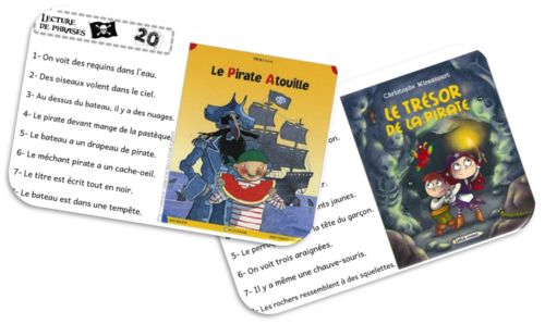 Atelier/Rallye Lecture de phrases Pirates SUITE
