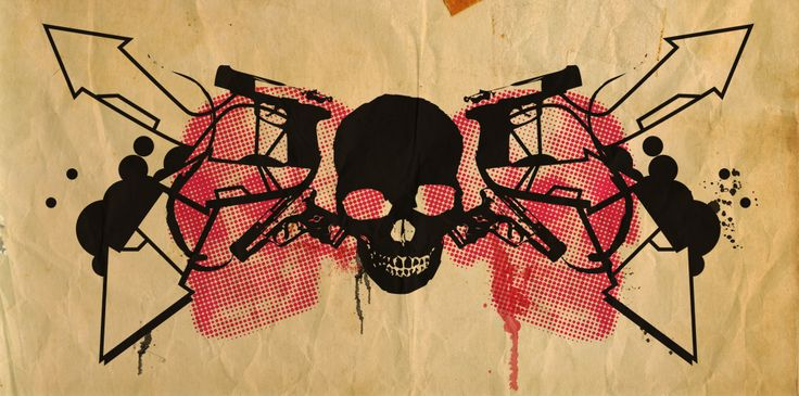 Guns and Skulls... by muskawo.deviantart.com on @deviantART