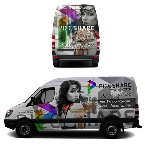 Designs | Design upscale wrap to attract people who want to make changes to their tattoo | Car, Truck or Van Wrap contest
