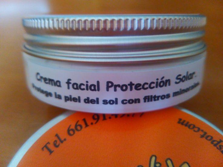 Cremas con Vida. Cosmética Artesana Natural: Crema Facial con protección solar