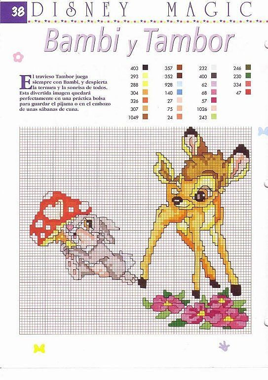 18 best bambi images on Pinterest   Embroidery, Cross stitches and ...