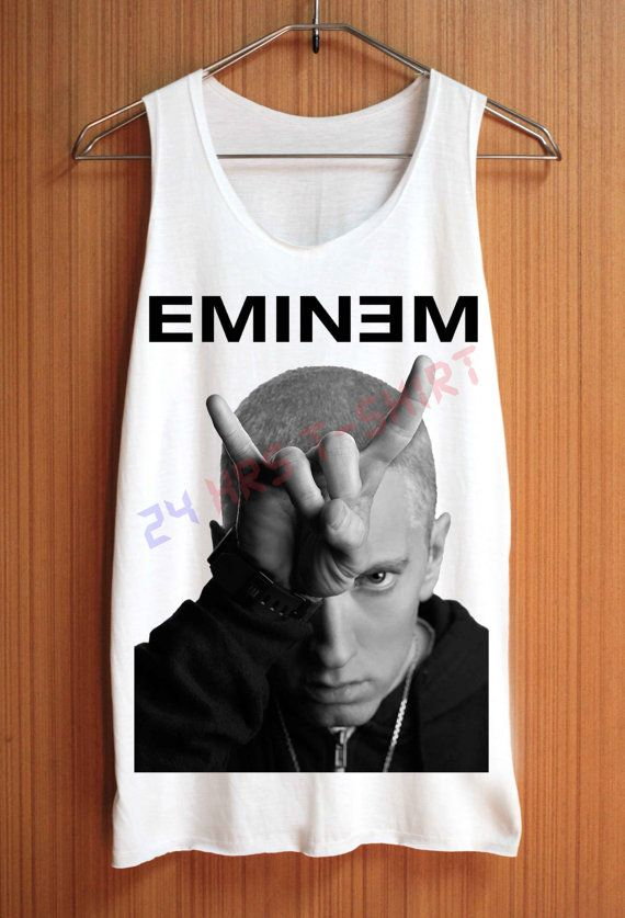 EMINEM Shirt Top Tank Top Tee Tunic Singlet Women  by 24hrsTShirt, $15.75