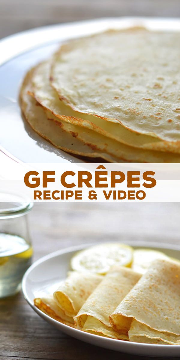 Gluten free crêpes are simple, light, French-style pancakes. Delicate but not fragile, and so easy to make with basic GF ingredients!