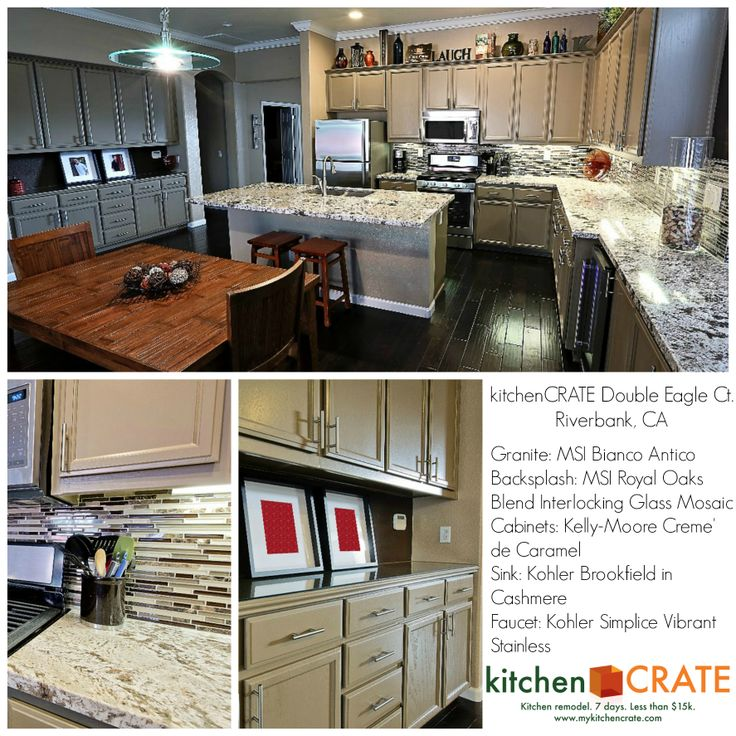 Rich Bianco Antico granite and the eye-popping glass