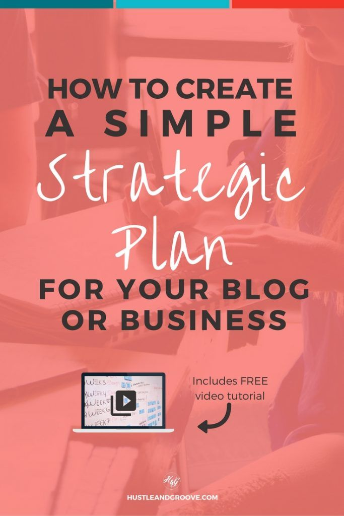 How to Create Your Own Simple Strategic Plan (and why you should) - includes tutorial video and template. Click through to learn more. http://www.hustleandgroove.com/simple-strategic-plan
