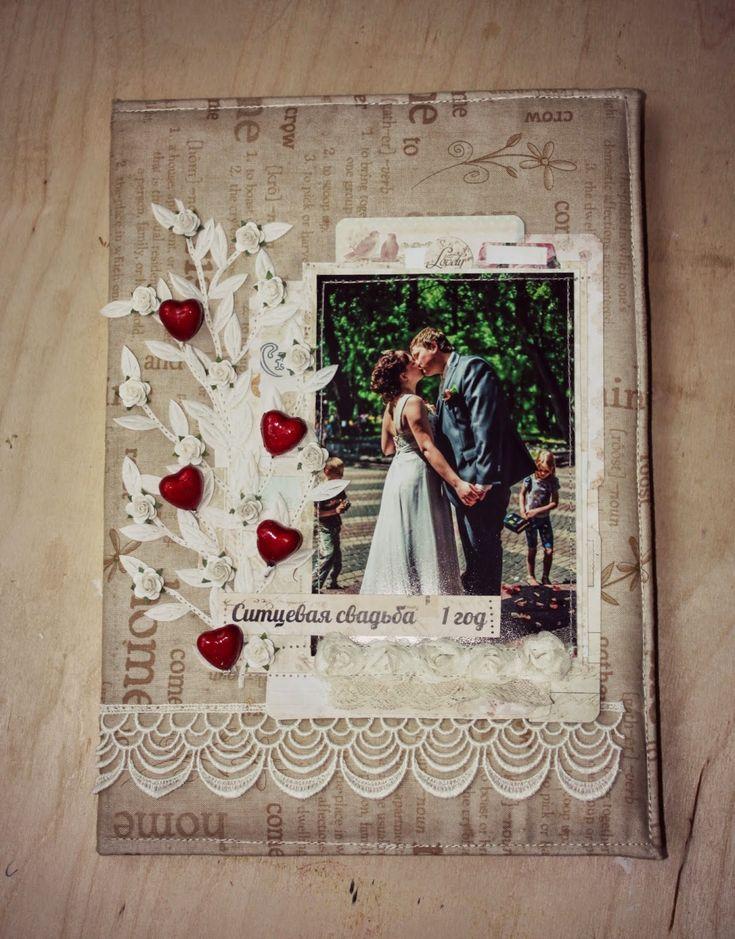 Открытка на годовщину свадьбы скрапбукинг своими руками, любви подписью