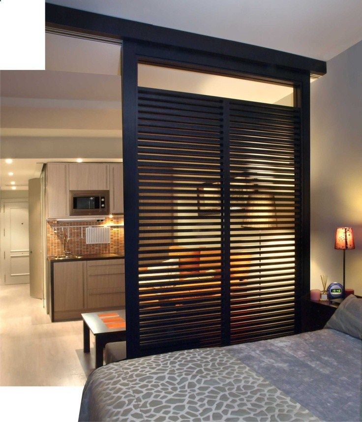 Great room divider for a studio apartment.