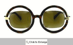 Suri Square on Round Sunglasses - 474 Tortoise