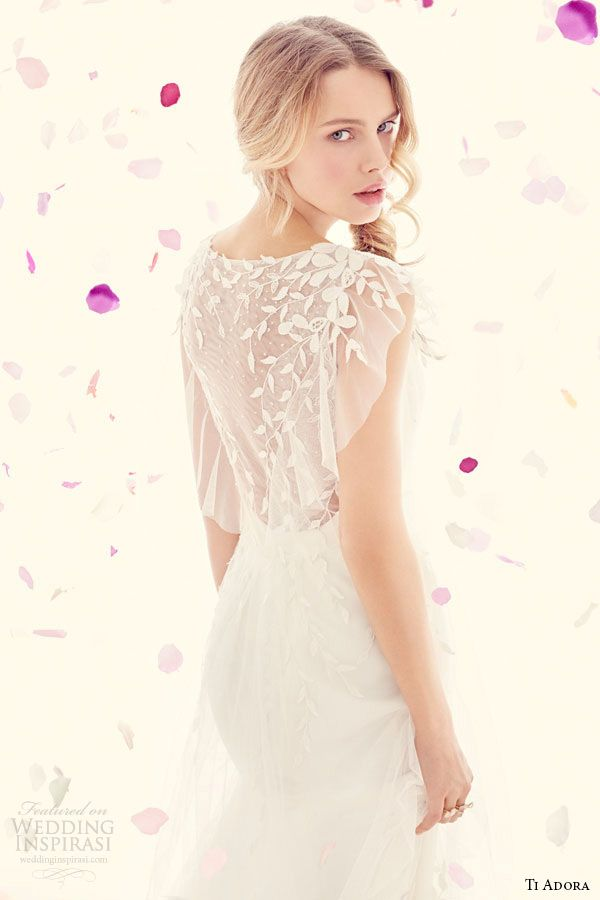 ti adora weding dress spring 2015 ivory charmeuse modified a line gown detachable embroidered net wrap dress 7512 zoom back