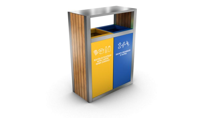 KUOKIO OUTDOOR RECYCLING BIN 2 COMPARTMENTS