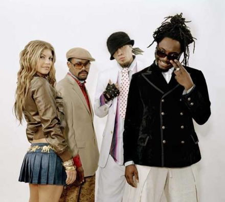 Black Eyed Peas - the warm up band for U2 - go figure!