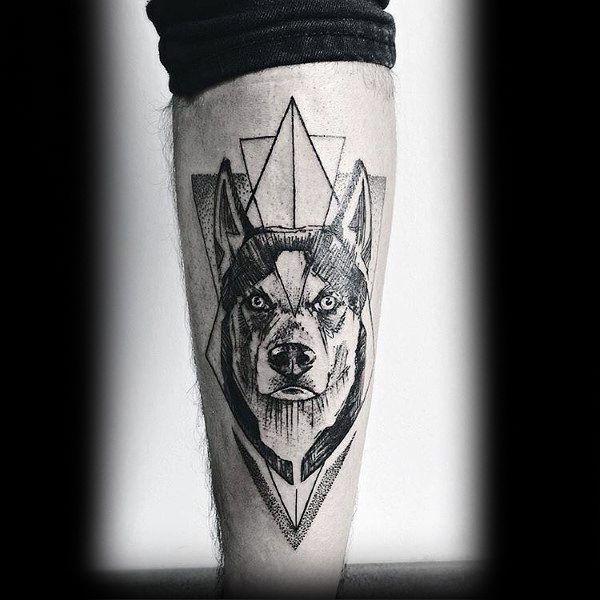 Siberian Husky Tattoos Ideas Husky Tattoo Tattoo Designs Men