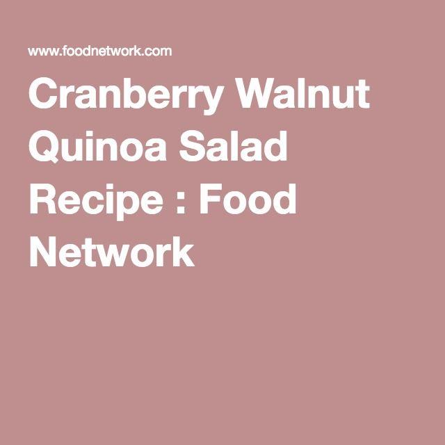 The 25 best quinoa salad recipe food network ideas on pinterest cranberry walnut quinoa salad recipe food network forumfinder Images