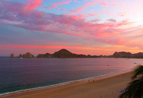 Incredible sunset in Mexico from my room at Riu Palace, Cabo