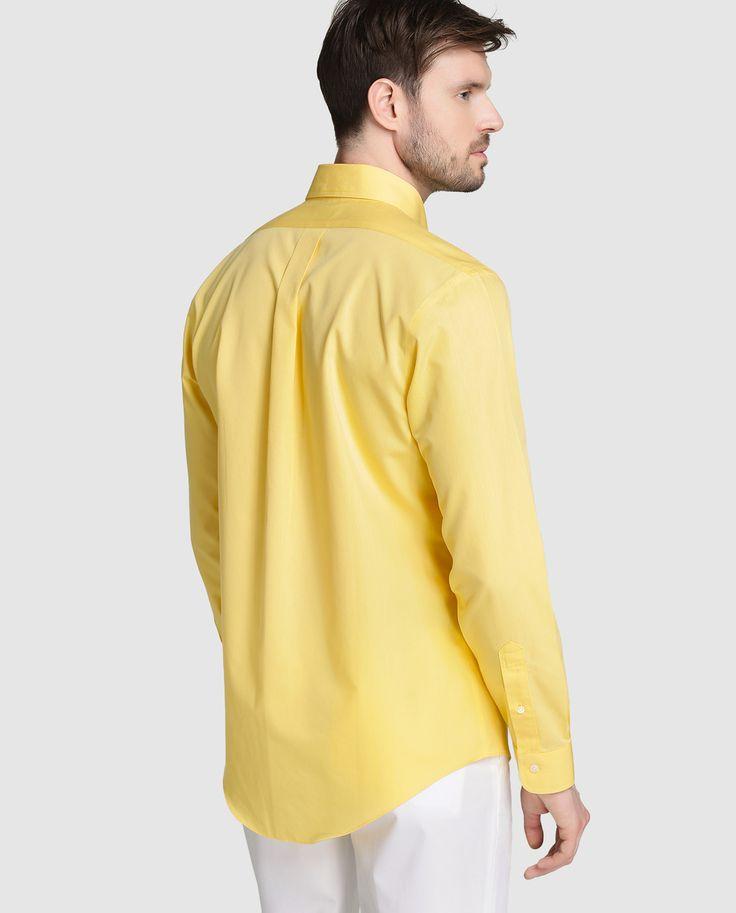Camisa Regent de hombre Brooks Brothers slim de rayas amarilla · Brooks Brothers · Moda · El Corte Inglés