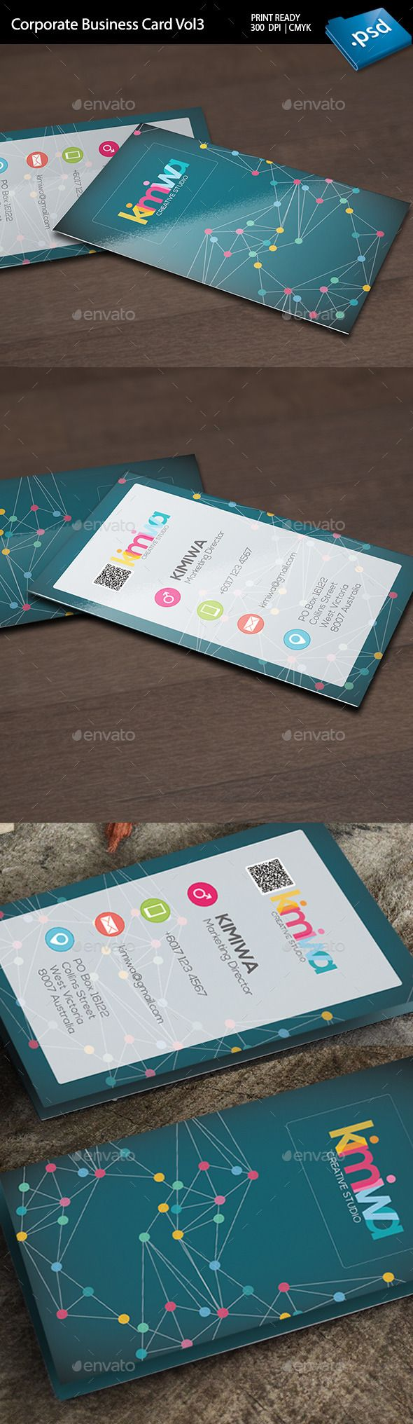 Corporate Business Card Vol3 - Corporate Business Card Template PSD. Download here: http://graphicriver.net/item/corporate-business-card-vol3-/12231571?s_rank=1777